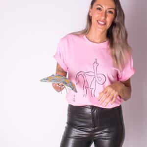 imagen camiseta original con mensaje feminista
