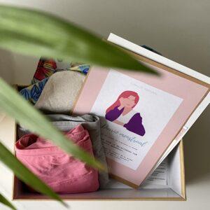 imagen caja sostenible primera menstruación